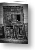 Ghost Town Greeting Cards - Old Bodie Building Greeting Card by Garry Gay