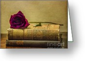 Compose Greeting Cards - Old Book Love Greeting Card by Terry Rowe