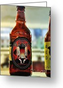 Strength Greeting Cards - Old Fart Beer Greeting Card by Kaye Menner