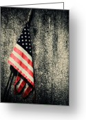 Flag Of The United States Greeting Cards - Old Glory Greeting Card by Karol  Livote