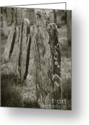 Burials Greeting Cards - Old Gravestones I Greeting Card by Dave Gordon