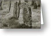 Burials Greeting Cards - Old Gravestones II Greeting Card by Dave Gordon