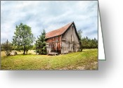 Prairie Sky Art Greeting Cards - Old homestead - Barns and Farmhouse - Adirondacks Greeting Card by Gary Heller