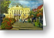 Jeff Kolker Greeting Cards - Old Town Square Greeting Card by Jeff Kolker