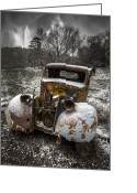 Fall Scenes Greeting Cards - Old Truck in the Smokies Greeting Card by Debra and Dave Vanderlaan