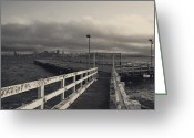 San Francisco Bay Greeting Cards - On and On Greeting Card by Laurie Search