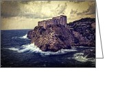 Madeline Ellis Greeting Cards - On The Rock - Dubrovnik Greeting Card by Madeline Ellis