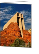 Sedona Greeting Cards - On The Rocks Greeting Card by Jon Burch