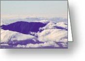 Above The Clouds Greeting Cards - On Top of the World Greeting Card by Cathy Donohoue