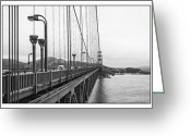 Pacific Greeting Cards - One Bridge Three Views Greeting Card by Erik Brede