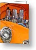 Oldfashioned Greeting Cards - One Chrome Light Greeting Card by Carolyn Marshall