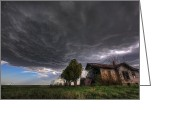 Hail Photo Greeting Cards - Over Head Greeting Card by Zach  Roberts