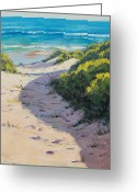 Signed Greeting Cards - Over The Dunes Greeting Card by Graham Gercken
