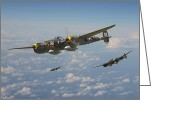 Airplane Greeting Cards - P38 Lightning - Pacific Patrol Greeting Card by Pat Speirs