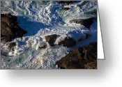 Tides Greeting Cards - Pacific Ocean Against Rocks Greeting Card by Garry Gay