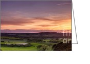 Simon Bratt Photography Greeting Cards - Panoramic sunset over England Greeting Card by Simon Bratt Photography
