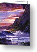 South Seas Greeting Cards - Paradise Beach Greeting Card by
