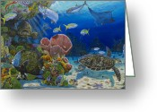 Aquarium Painting Greeting Cards - Paradise Greeting Card by Carey Chen