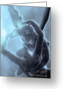 Psyche Greeting Cards - Paris Eros and Psyche - Louvre Sculpture Greeting Card by Kathy Fornal