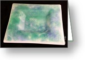 Soft  Glass Art Greeting Cards - Pastels Image A Greeting Card by P Russell