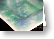 Soft  Glass Art Greeting Cards - Pastels Image B Greeting Card by P Russell