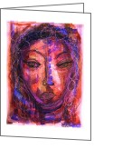 Pensive Greeting Cards - Pensive Greeting Card by Mimulux patricia no