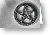 Amulet Greeting Cards - Pentacle Greeting Card by Arisha Singh