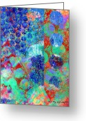 Abstract Bright Color Greeting Cards - Phase series - Movement Greeting Card by Moon Stumpp