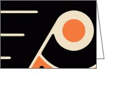 Hockey Painting Greeting Cards - Philadelphia Flyers Greeting Card by Tony Rubino