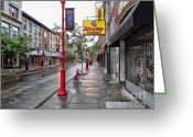 South Philadelphia Greeting Cards - Philadelphia South Street 1 Greeting Card by Jack Paolini