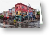 South Philadelphia Greeting Cards - Philadelphia South Street 3 Greeting Card by Jack Paolini