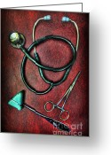Nurses Greeting Cards - Physicians Tools  Greeting Card by Lee Dos Santos