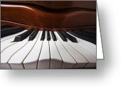 Color Bending Greeting Cards - Piano Dreams Greeting Card by Garry Gay