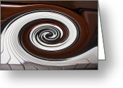 Color Bending Greeting Cards - Piano Swirl Greeting Card by Garry Gay