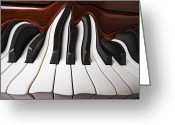 Color Bending Greeting Cards - Piano wave Greeting Card by Garry Gay