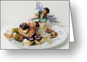 Food Sculpture Greeting Cards - Piece O Cake Greeting Card by Tamara Stickler