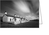 Pilot Greeting Cards - Pilot Cottages Greeting Card by David Bowman