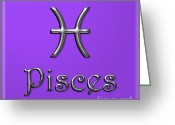 Daysray Photography Greeting Cards - Pisces Greeting Card by Fran Riley