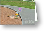 Curve Ball Greeting Cards - Play Day Greeting Card by Jimmy Ostgard