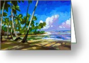 Caribbean Sea Greeting Cards - Playa Bonita Greeting Card by Douglas Simonson