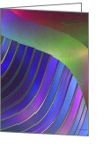 Jewel Tones Digital Art Greeting Cards - Pleats Greeting Card by Judi Suni Hall