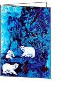 Childsroom Greeting Cards - Polar Bear Retreat Greeting Card by JAXINE Cummins