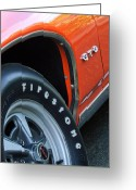 Tire Greeting Cards - Pontiac GTO Tire Emblem Greeting Card by Jill Reger