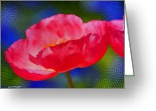 Watercolor Flowers Prints Greeting Cards - Poppy series - Touch Greeting Card by Moon Stumpp