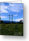 Alberta Foothills Landscape Greeting Cards - Power Through The Foothills Greeting Card by Phil Dionne