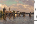 Charles River Digital Art Greeting Cards - Prague Greeting Card by Nop Briex