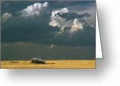 Prairie Landscape Greeting Cards - Prairie Storm Greeting Card by Dusty Demerson