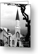 Tree Limbs Greeting Cards - Pray in Papeete Greeting Card by Julie Palencia