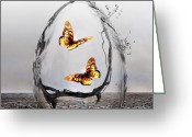 Surrealism Digital Art Greeting Cards - Precious Greeting Card by Photodream Art