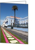 Gaspar Avila Greeting Cards - Presidential Palace - Azores Greeting Card by Gaspar Avila